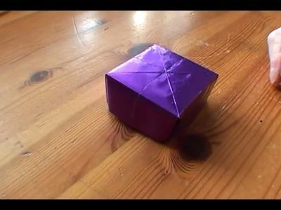 How To Make an Origami Present Box - Falte Dir Deine Origami Geschenk-Schachtel!