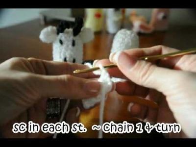 How to make crochet COW Finger Puppet #1