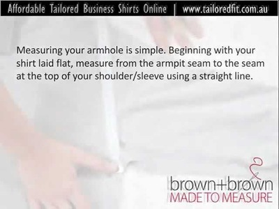 How To Measure Your Armhole | Online Tailor