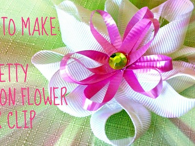 *Kids Crafts*: Ribbon Flower Hair Clip!