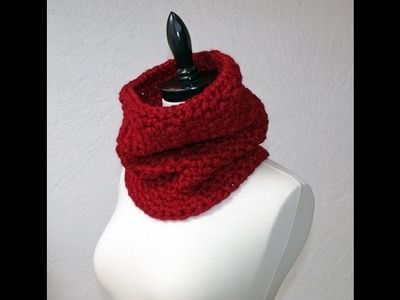 Left Hand Moss Stitch Beginner Scarf or Cowl Tutorial