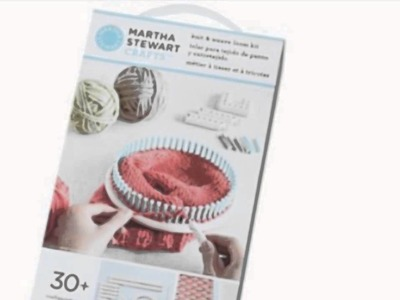 Martha Stewart Crafts Lion Brand Yarn 5000-100 Knit And Weave Loom Kit (Art and Craft Supply)