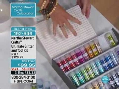 Martha Stewart Crafts Ultimate Glitter and Tool Kit