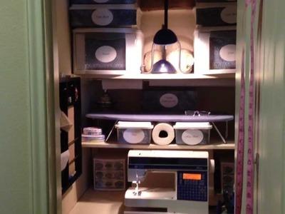 My Organized Craft-Sewing Closet