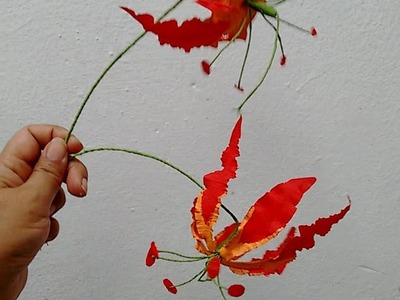 Paper flower - Gloriosa Lily