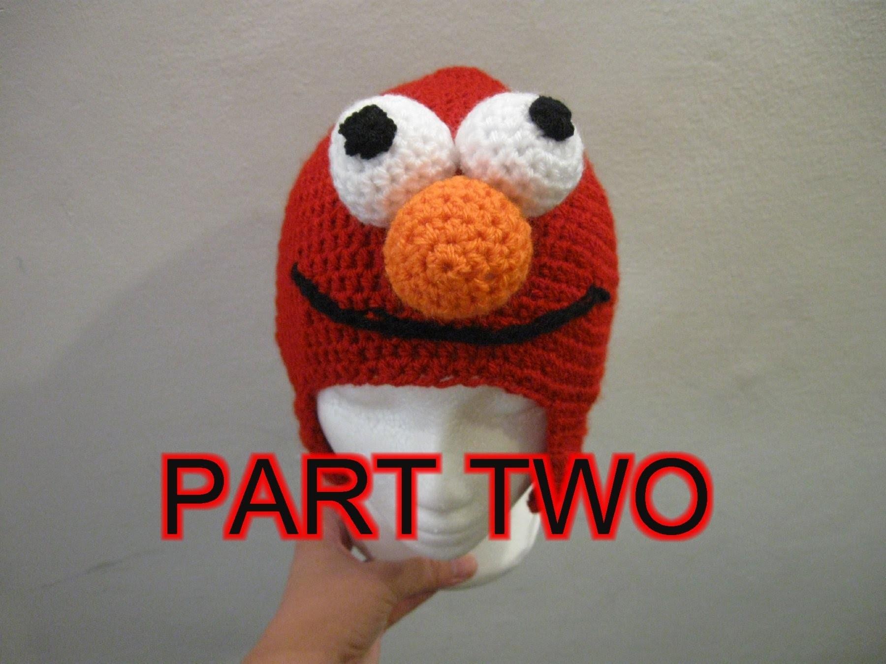 Red Mo Monster Crochet Beanie Tutorial pt 2