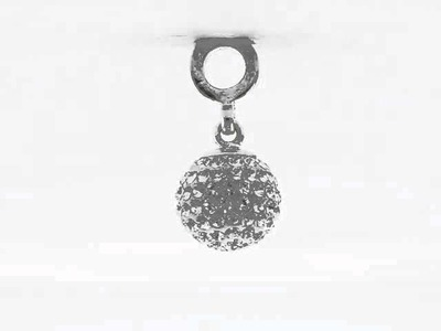 Reflection Beads April Swarovski Elements Ball Dangle Bead QRS1253APR