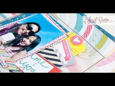 "Scrapbook Process - Start to finish - Layout ""you and me"" video"