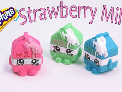 Shopkins Custom Spilt Strawberry Milk DIY Inspired Painted Craft Season 1  Kawaii Toy Cookieswirlc
