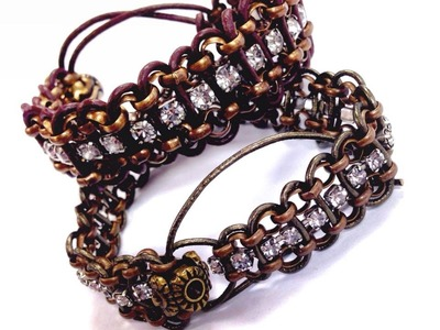 Solstice Bracelet Rhinestone Chain & Cord DIY