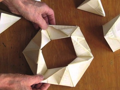 Torus Ring from Folded Paper Circles