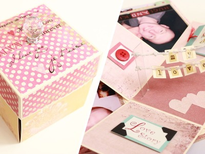 Valentines Day Mini Album Explosion Box Tutorial - Love Paper Crafts
