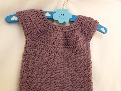 VERY EASY crochet baby. girl's bobble dress tutorial - part 2