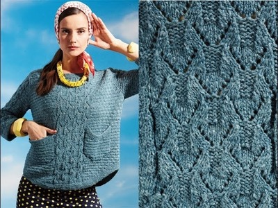 #23 Button-Back Sweater, Vogue Knitting Early Fall 2014