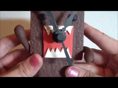 25 Days of Christmas Crafts: Polymer Clay Domo Clock