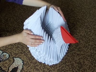 3D origami giant (big) swan (cygnet) tutorial