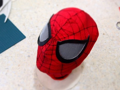 #51: Spiderman Mask DIY Part 3 - Eyes & Webbing