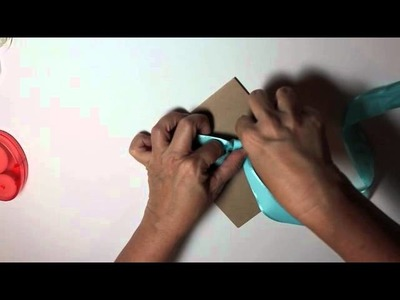 Bow Tying Tips for Card-making and Paper Crafts