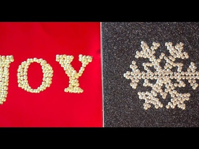 Christmas DIY: Thumbtack Wall Decor