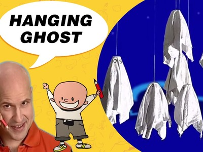 Crafts Ideas for Kids - Hanging Ghost | DIY on BoxYourSelf