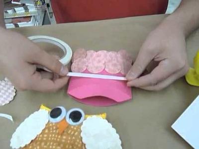 Crankin' Out Crafts -ep123 Owl Pillow Box Favor