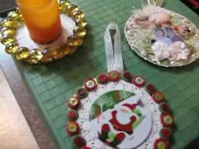 Create with CD's crafts, Re-purposed, Re-used.