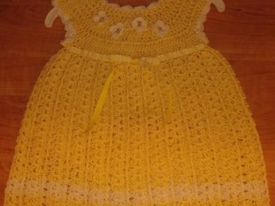 Crochet yellow dress