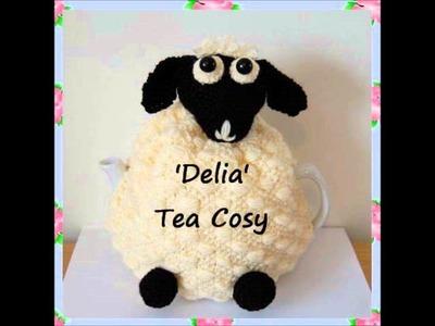 Delia Sheep Lamb Kitchen Farmyard Country DK Yarn Tea Pot Cosy Knitting Pattern