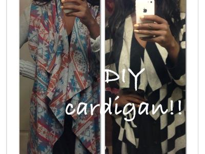 DIY Aztec Tribal Cardigan Sweater Refashion Upcycle Fall 2013 Fashion Trend