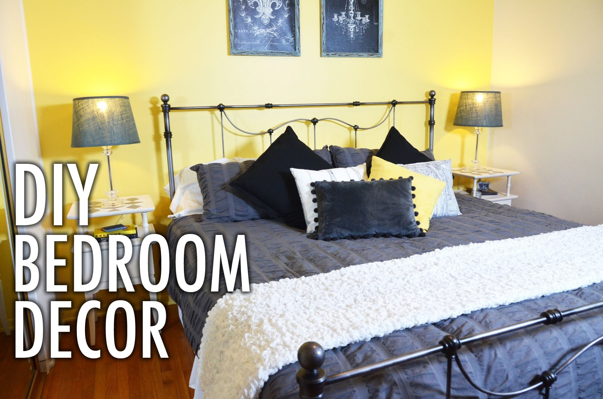 DIY Bedside Tables and Bedroom Decor with Mr. Kate