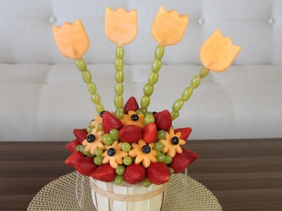 DIY- EDIBLE FRUIT ARRANGEMENT