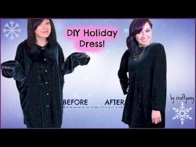 DIY Holiday Dress | Shirt to Dress Transformation