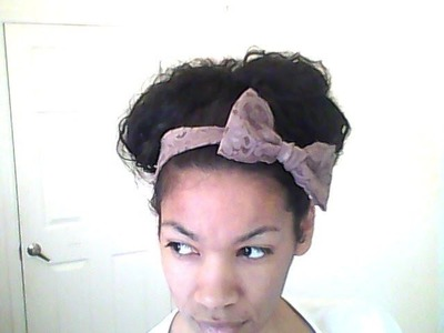 DIY:  how to make a bow lace headband & GIVEAWAY