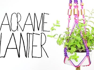 DIY Macrame Planter - Threadbanger