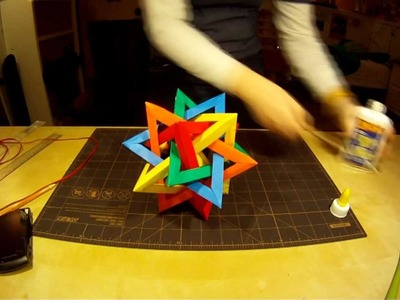 Five Intersecting Tetrahedra (origami star)