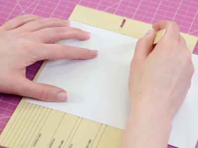 Folding a card - Papercraft Basics