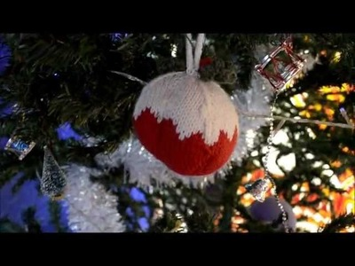 Handmade.Knitted Christmas Tree Decorations by Mrs Crafty Cuppa