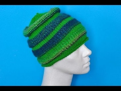 How to Knit * Knitted Hat Top Down * How to increase