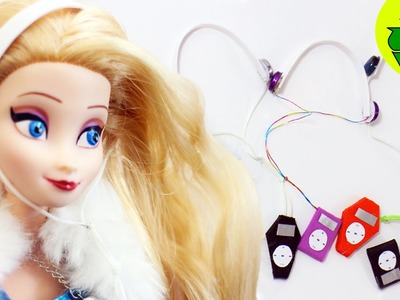 How to make doll mp3 player with headphones - Doll Crafts