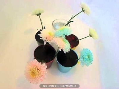 How to make rainbow flowers