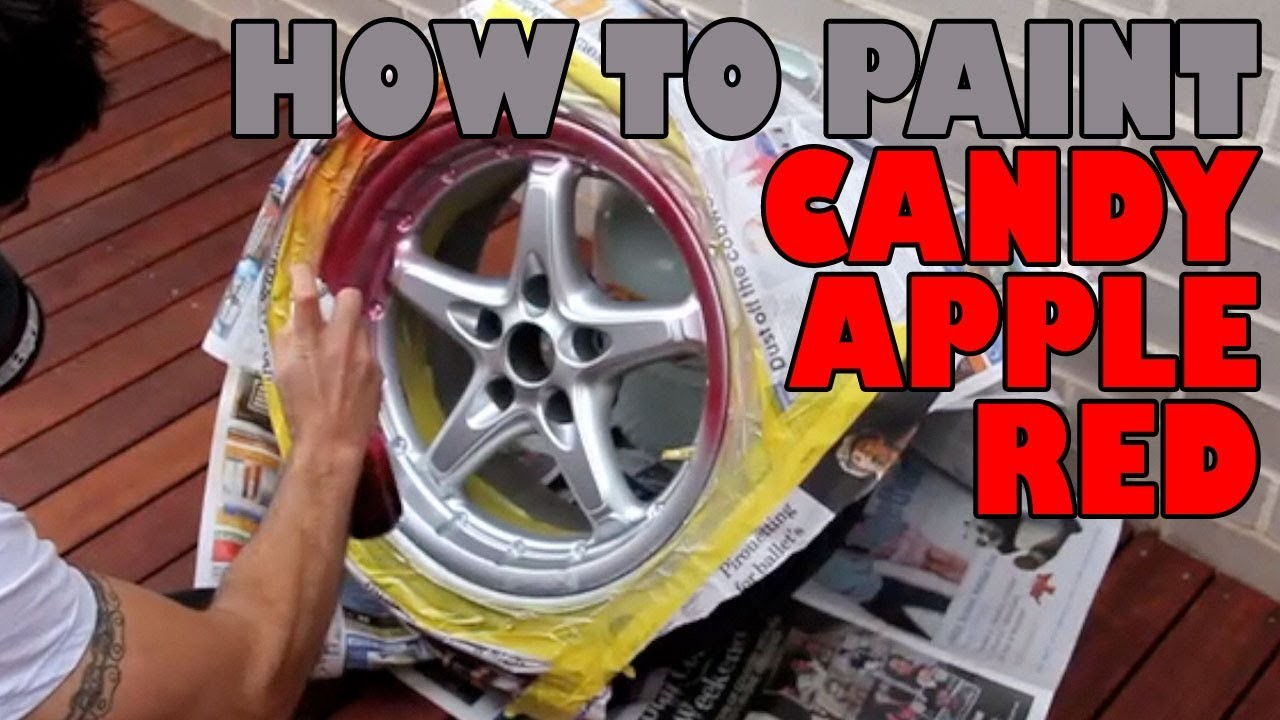 How to paint candy apple red DIY