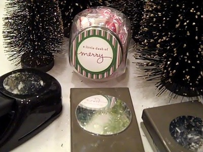 Inexpensive Gift Jar featuring Stampin' UP! Circle Punches