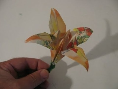 Make an Origami Iris (flower)