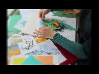 Making a Stamp - paper sculpture illustration by Gail Armstrong