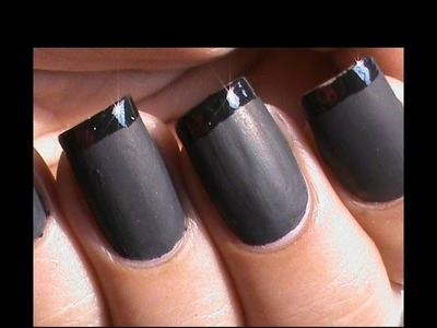 Matte Nail Polish Designs - French tip Matte Nails - Matte Nail Art Tutorial How to DIY at Home