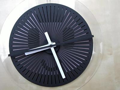 Moire seconds prototype  - optical illusion wallclock