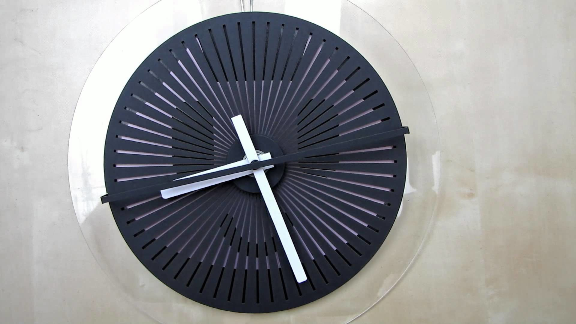 Moire seconds prototype  - optical illusion wallclock