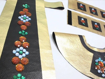 No-Sew Cleopatra Costume, Halloween How-to
