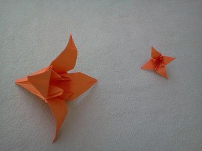 Origami flowers: Lilly - Flores de papel: Lirio