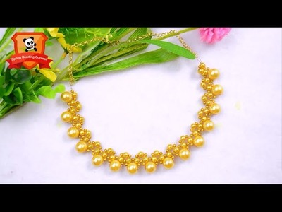 Pandahall Spring Beading Contest | Pearl Wedding Necklace | Sample Video